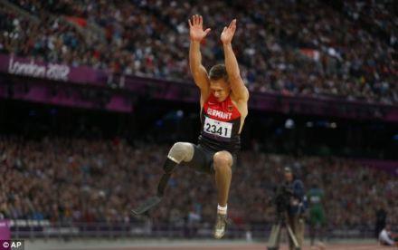 Paraolímpico campeão salto Markus Rehm, que foi deixado de fora do time alemão para o Campeonato Europeu, apesar de ganhar as provas nacionais.